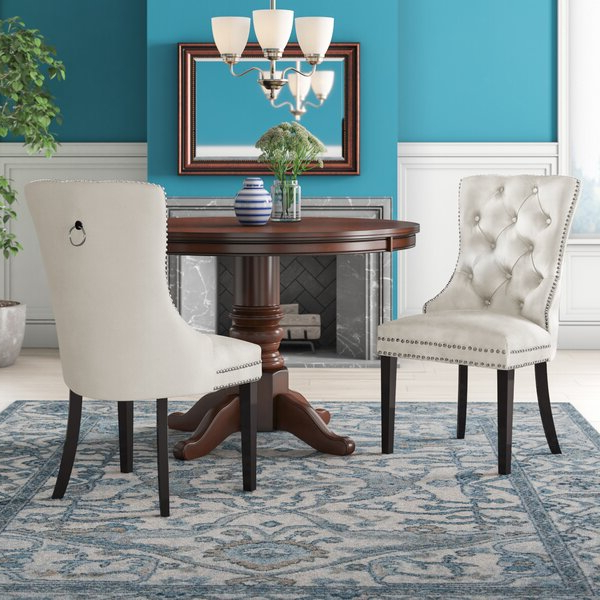 Patterned Dining Chair Throughout Bob Stripe Upholstered Dining Chairs (set Of 2) (View 7 of 20)