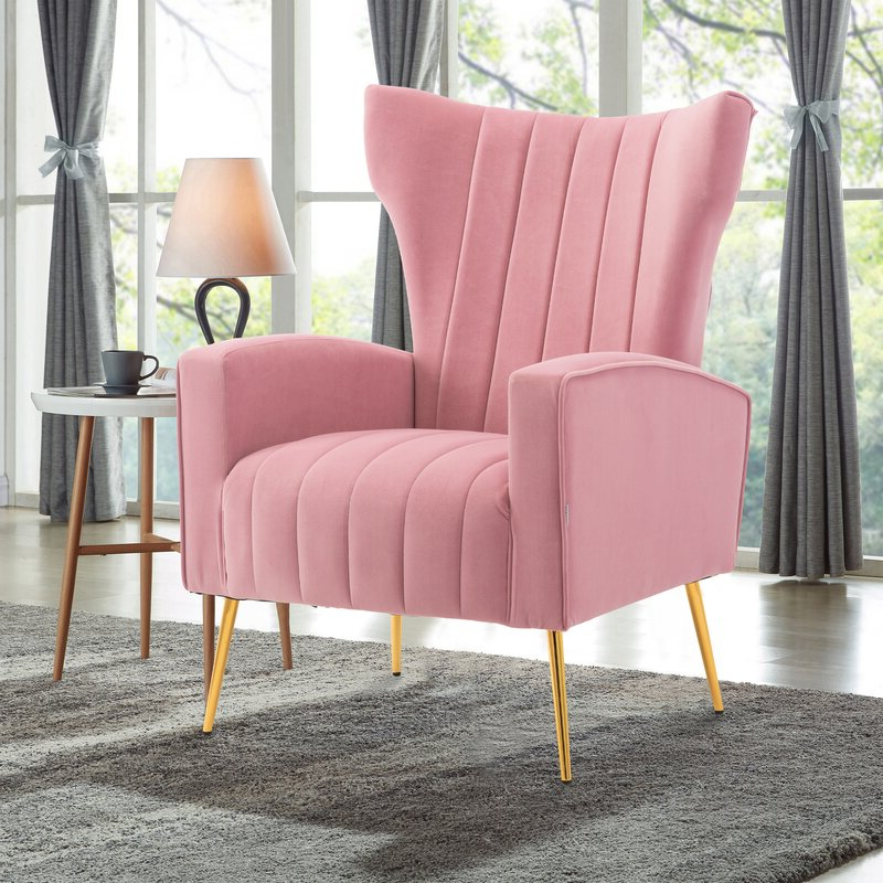 Perla Wingback Chair With Nestor Wingback Chairs (View 13 of 20)