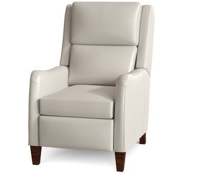 Peyson Leather Power Recliner Body Fabric: Milestone White, Leg Color: Espresso, Cushion Fill: Hr Foam, Reclining Type: Power Button In Harland Modern Armless Slipper Chairs (View 15 of 20)