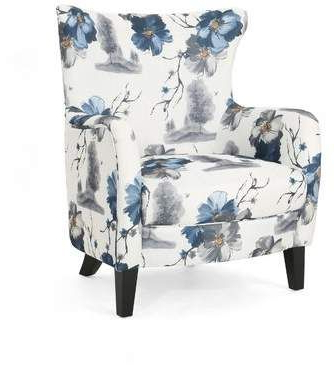 Pin En Blue And White And Gray Flowered Chairs Intended For Leia Polyester Armchairs (View 5 of 20)