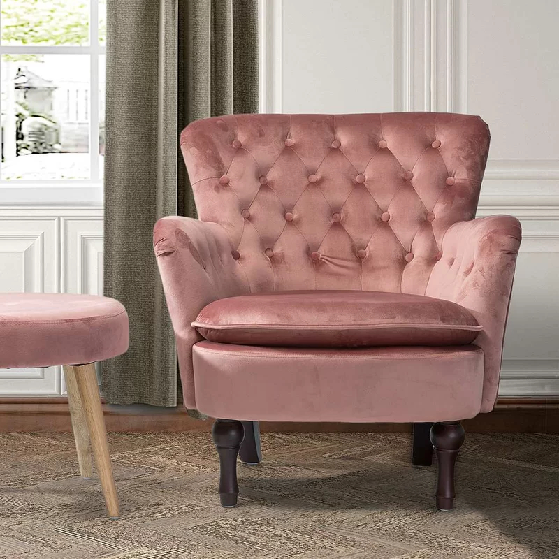 Pin On House Inspo Throughout Didonato Tufted Velvet Armchairs (View 20 of 20)