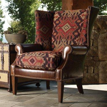 Pindavid Plunkett On Rustic And Soithwst Furniture Throughout Marisa Faux Leather Wingback Chairs (View 20 of 20)