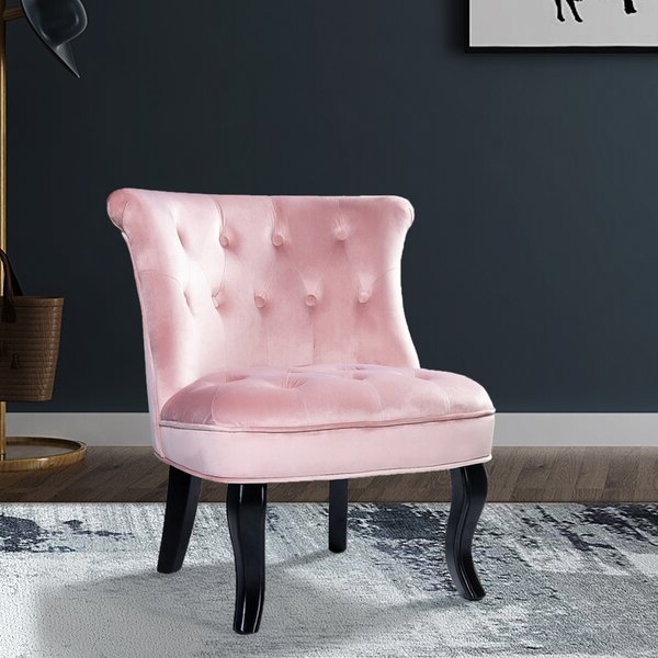 Pink Velvet Tufted Chair With Didonato Tufted Velvet Armchairs (View 11 of 20)