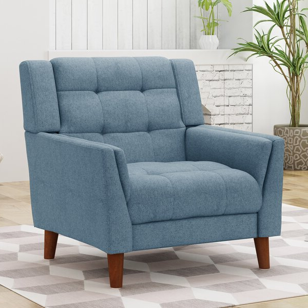 Plush Armchair With Armory Fabric Armchairs (View 6 of 20)