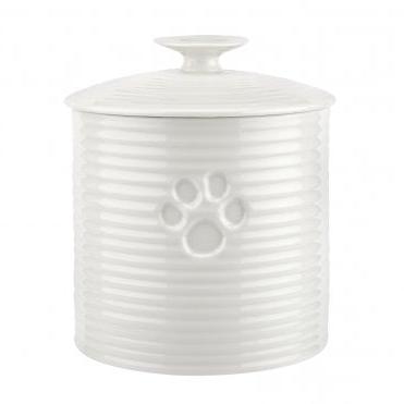Portmeirion Sophie Conran White Porcelain Pet Treat Jar (View 16 of 20)