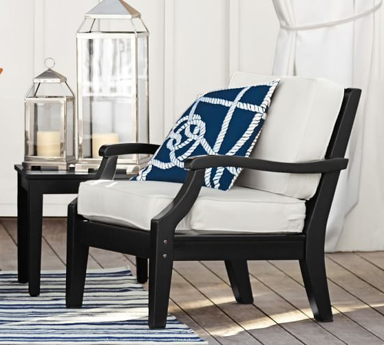 Pottery Barn – Hampstead Painted Armchair In Black (View 17 of 20)