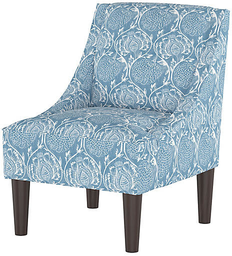 Quinn Swoop Arm Chair – Floral French Blue Within Bethine Polyester Armchairs (set Of 2) (View 20 of 20)
