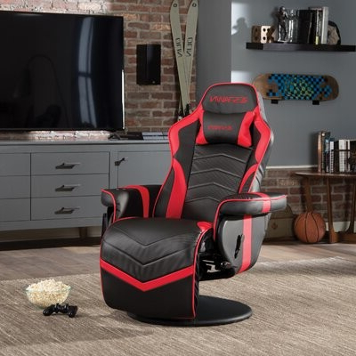 Recliner Racing Game Chair Color: Red/black Throughout Blaithin Simple Single Barrel Chairs (View 19 of 20)