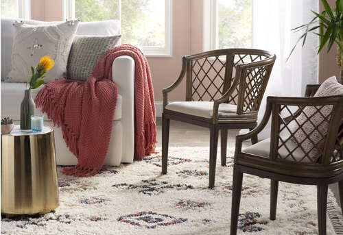 Red, Chairs Room Design Ideas | Joss & Main Regarding Roswell Polyester Blend Lounge Chairs (View 20 of 20)