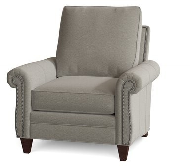 """Reddish 38"""" W Polyester Down Cushion Armchair Body Fabric: Common Sense Toast, Leg Color: Mahogany Within Gallin Wingback Chairs (View 11 of 20)"""