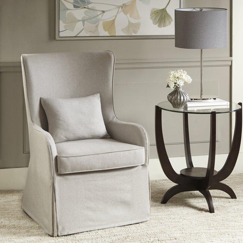 Regis Wingback Chair Regarding Lauretta Velvet Wingback Chairs (View 20 of 20)