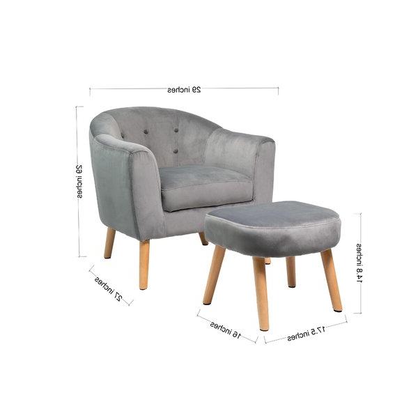 Rockridge Hansel Barrel Chair And Ottoman For Brames Barrel Chair And Ottoman Sets (View 10 of 20)