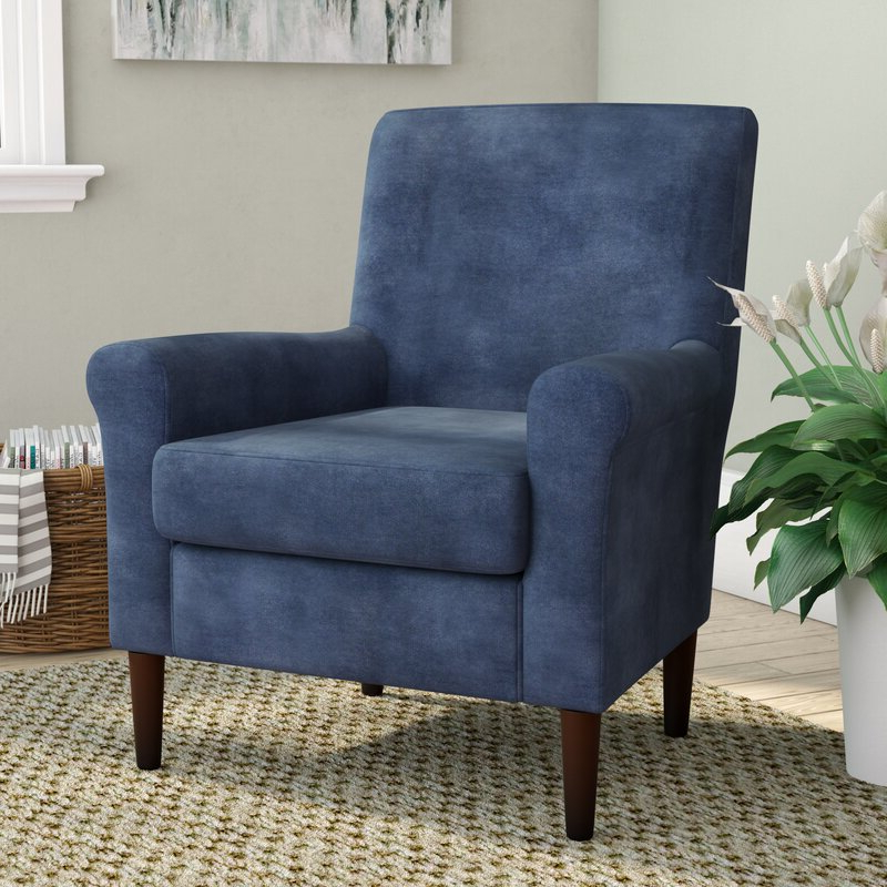 """Ronald 28"""" W Polyester Blend Armchair In Hanner Polyester Armchairs (View 7 of 20)"""