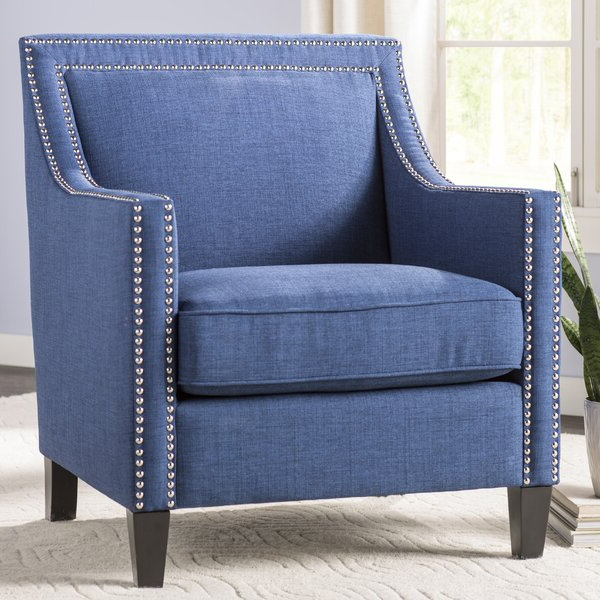 Rotterdam Studded Arm Chair Inside Bethine Polyester Armchairs (set Of 2) (View 6 of 20)