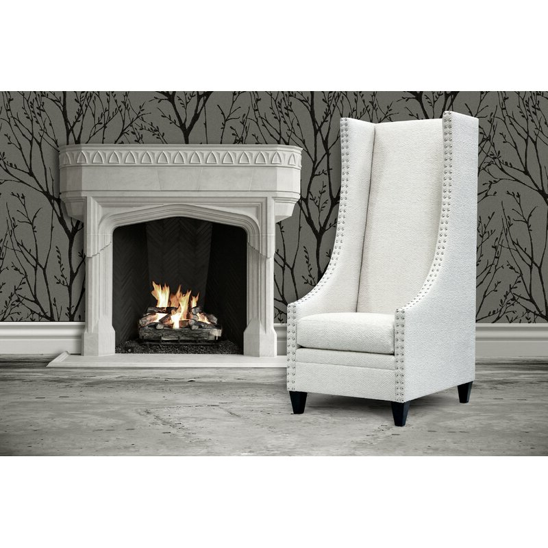 Saige Wingback Chair With Regard To Saige Wingback Chairs (View 8 of 20)