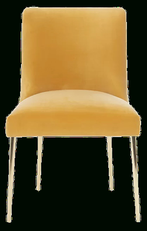 Sandon Velvet Upholstered Side Chair | Mustard Pertaining To Daulton Velvet Side Chairs (View 18 of 20)