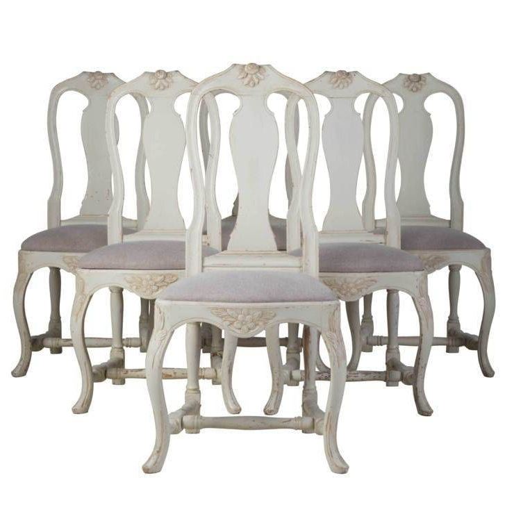 Set Of Swedish Dining Chairs Throughout Chiles Linen Side Chairs (View 10 of 20)