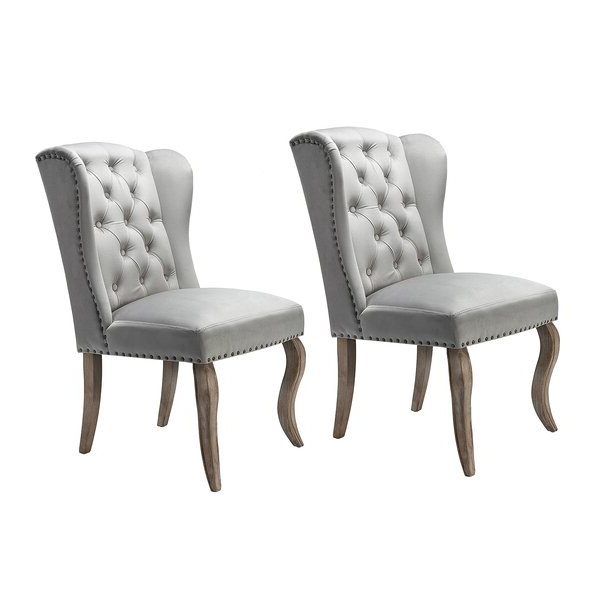 Set Of Two Accent Chairs Intended For Alush Accent Slipper Chairs (set Of 2) (View 3 of 20)