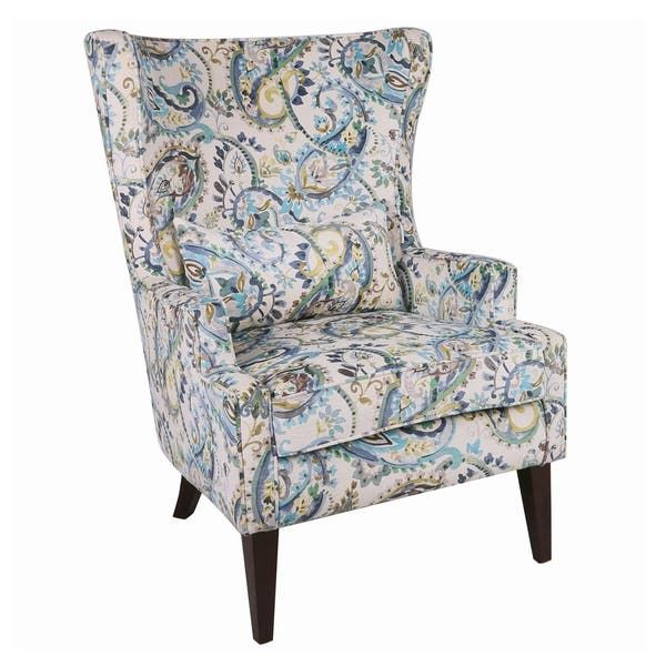 Shop Clementine Wingback Arm Chair – Overstock – 26235127 With Regard To Waterton Wingback Chairs (View 10 of 20)