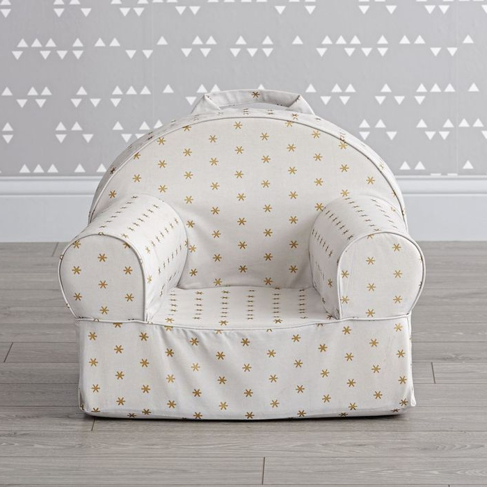 Small Gold Sparkle Nod Chair – Crate And Barrel Regarding Aniruddha Slipper Chairs (View 18 of 20)