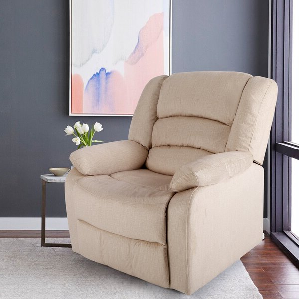 Small Wall Away Recliner Throughout Artressia Barrel Chairs (View 16 of 20)