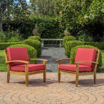 Solid Wood – Outdoor Lounge Chairs – Patio Chairs – The Home Throughout Caldwell Armchairs (View 16 of 20)