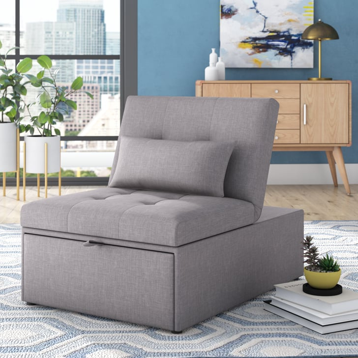 Space Saving Chairs That Turn Into Beds | Popsugar Home Throughout Bolen Convertible Chairs (View 12 of 20)