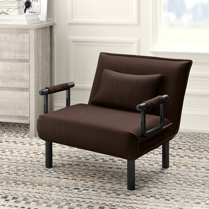 Springdale Convertible Chair Within Perz Tufted Faux Leather Convertible Chairs (View 11 of 20)