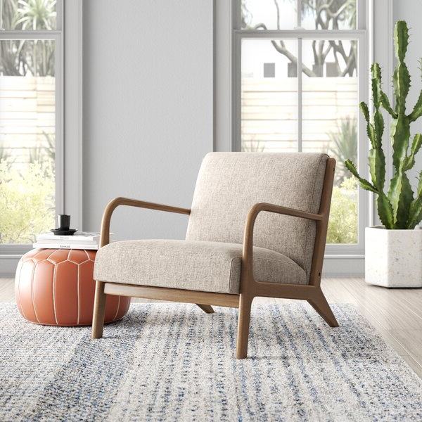 Square Armchair Regarding Armory Fabric Armchairs (View 7 of 20)