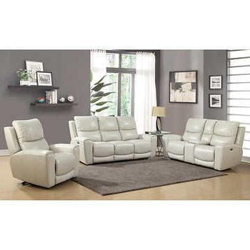 Stoneleigh 3 Piece Leather Power Reclining Set With Power With Danny Barrel Chairs (set Of 2) (View 11 of 20)