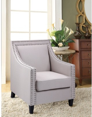 Studded Arm Chair | Shop The World's Largest Collection Of Inside Bethine Polyester Armchairs (set Of 2) (View 12 of 20)