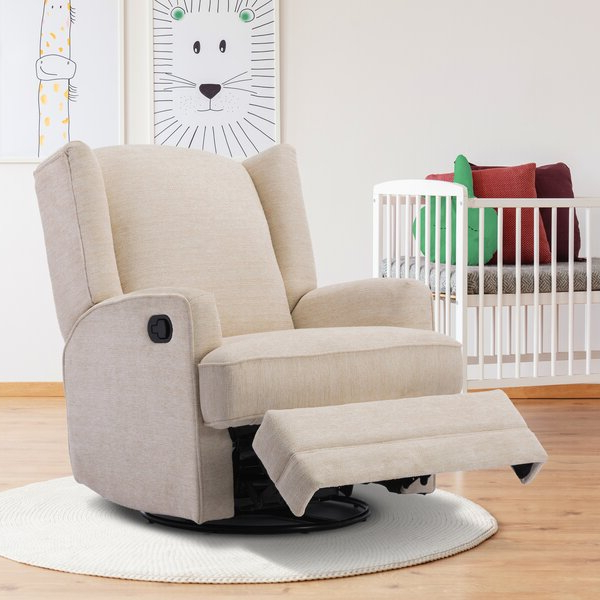 Swivel Chair Recliners Intended For Coomer Faux Leather Barrel Chairs (View 14 of 20)