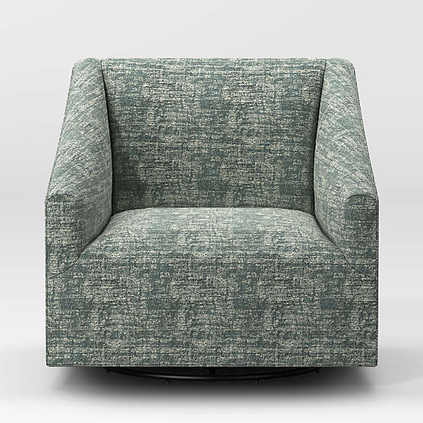 Swivel Seat Chairs | Crate And Barrel Inside Hazley Faux Leather Swivel Barrel Chairs (View 15 of 20)
