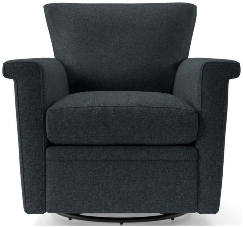 Swivel Seat Chairs | Crate And Barrel Pertaining To Hazley Faux Leather Swivel Barrel Chairs (View 19 of 20)