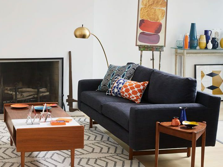 The 12 Best Places To Shop For Mid Century Modern Sofas In 2021 Within Starks Tufted Fabric Chesterfield Chair And Ottoman Sets (View 12 of 20)