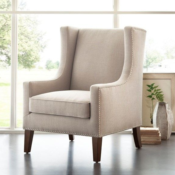 This Is The Same Chair Barton Wing Chair, In A Different With Regard To Galesville Tufted Polyester Wingback Chairs (View 12 of 20)
