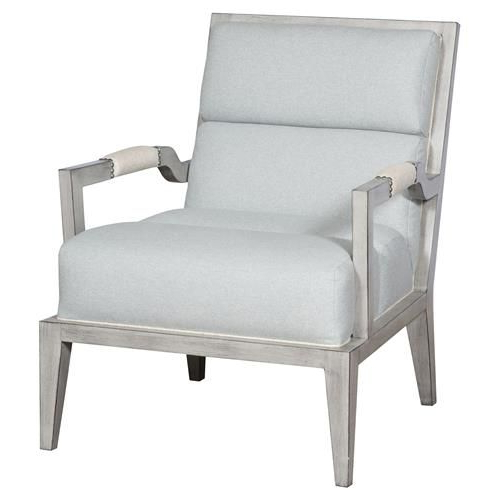 Thom Filicia Armory Coastal Cloud Blue Square Back Dove Grey In Armory Fabric Armchairs (View 9 of 20)