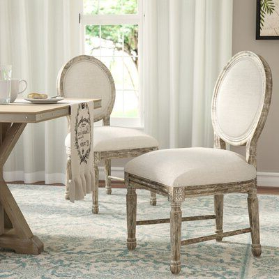 Three Posts Clintwood Side Chair | Side Chairs, Solid Wood Inside Aime Upholstered Parsons Chairs In Beige (View 7 of 20)