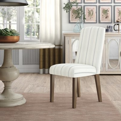 Three Posts For Bob Stripe Upholstered Dining Chairs (set Of 2) (View 2 of 20)