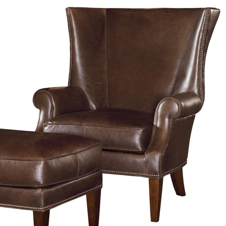 Tommy Bahama Home Tommy Bahama Upholstery Marissa Wing Chair In Marisa Faux Leather Wingback Chairs (View 12 of 20)