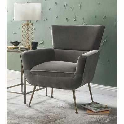 Toohey Furniture Velvet Arm Chair Throughout Biggerstaff Polyester Blend Armchairs (View 11 of 20)