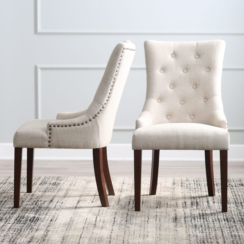 Top 10 Upholstered Dining Chairs – Hayneedle Inside Carlton Wood Leg Upholstered Dining Chairs (View 18 of 20)