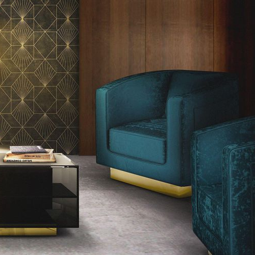 Traditional Armchair – Debbie – Ottiu – Fabric / Polished Regarding Reynolds Armchairs (View 20 of 20)