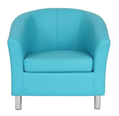 Tritium Next Day Leather Tub Chairs – Chrome Feet Within Jill Faux Leather Armchairs (View 20 of 20)