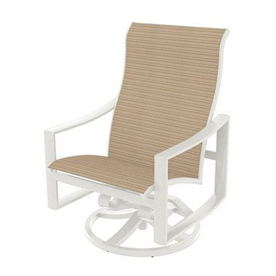 Tropitone Kenzo Sling Swivel Action Lounger Rocking Chair For Renay Papasan Chairs (View 17 of 20)