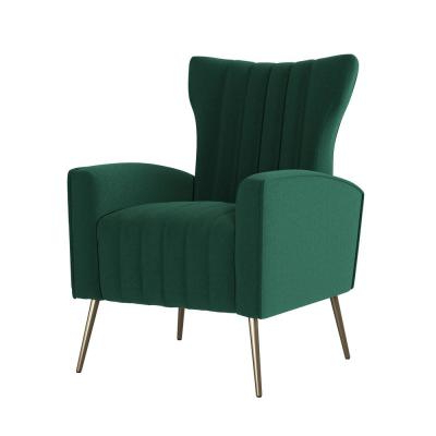 Tufted – Emerald Green – Accent Chairs – Chairs – The Home Depot With Regard To Dallin Arm Chairs (View 14 of 20)