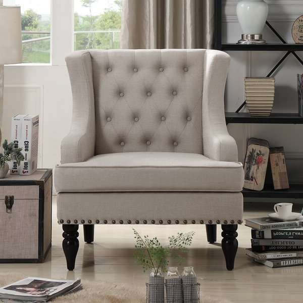 Tufted Nailhead Chair Pertaining To Suki Armchairs By Canora Grey (View 5 of 20)