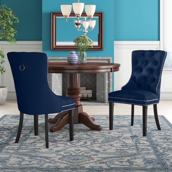 Turquoise Dining Chair Intended For Bob Stripe Upholstered Dining Chairs (set Of 2) (View 13 of 20)