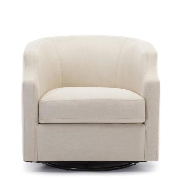 Unbranded Infinity Linen Swivel/rocker Barrel Chair 8092 04 In Danow Polyester Barrel Chairs (View 6 of 20)