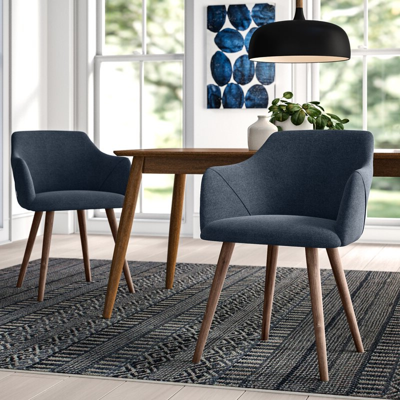 Upper Square™ Brie Solid Wood Upholstered Dining Chair Pertaining To Carlton Wood Leg Upholstered Dining Chairs (View 20 of 20)
